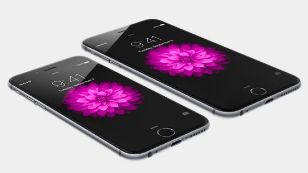 Revealed: iPhone 6, left, and iPhone 6 Plus.