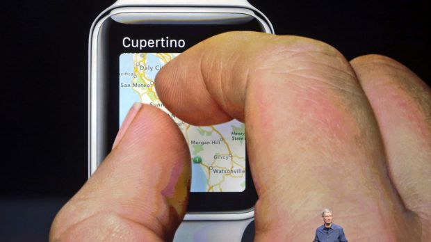 The Apple Watch features a flexible Retina touchscreen.