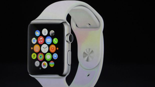 Tim Cook unveils the Apple Watch.