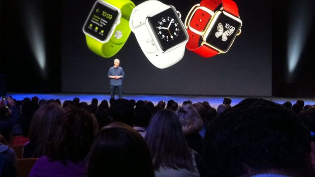 So many colours, so little time: Tim Cook reveals Apple Watch.