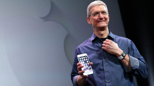 Apple CEO Tim Cook said revenue had grown 30 per cent over last year to $74.6 billion.
