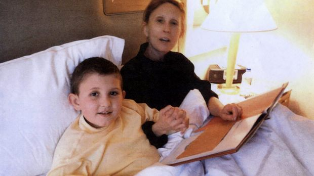 Gigi Jordan and her son, Jude Mirra in a deluxe New York hotel in February 2010.
