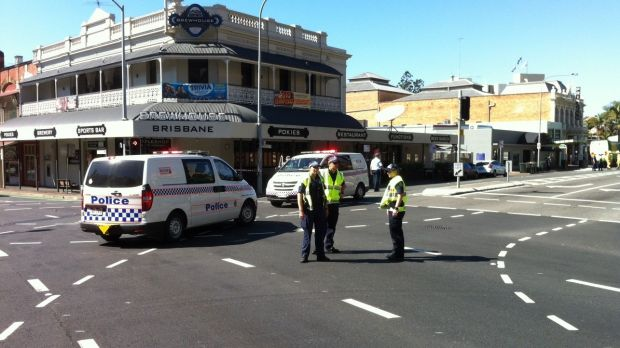 The scene of the fatal crash between Rebekka Meyer and a truck at the corner of Stanley Street and Annerley Road in ...