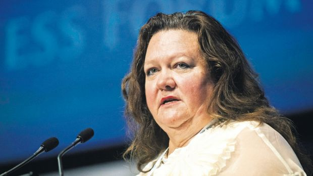 """We don't like the ore price going down, but we're in the lower quartile (of production costs)"", says Gina Rinehart."