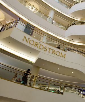 Bernie Brookes praised the service standards at department stores such as Nordstrom.