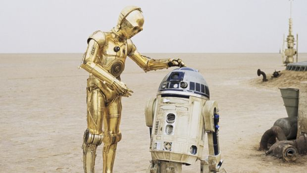 Original Star Wars robot C3PO and R2D2.