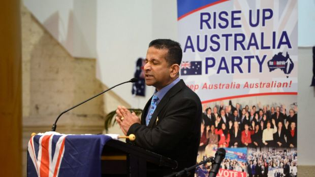 """I call Islam the death cult"": Rise Up Australia leader Danny Nalliah at the launch of the party's Victorian election ..."