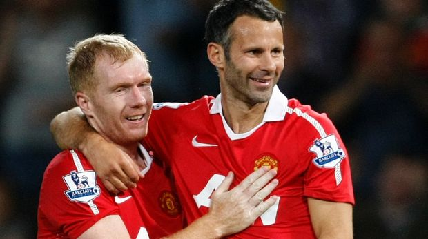 Man U great Paul Scholes (left) is one part of a Red Devils legends teams heading to Perth in March.