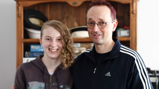 Father and daughter: Jason and Raven Stark, who developed the Ninja Pizza Girl game.