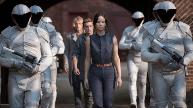 Corrupt state: Jennifer Lawrence in a scene from <i>The Hunger Games: Catching Fire</i>.