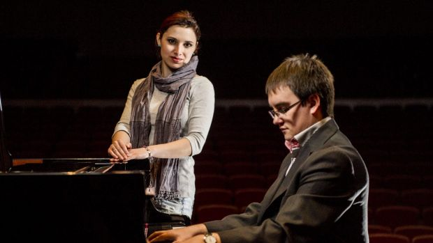 KEY APPEARANCES: Elina Akselrud, of Ukraine, and Maciej Wota, of Poland,  are competing at the International Chopin ...