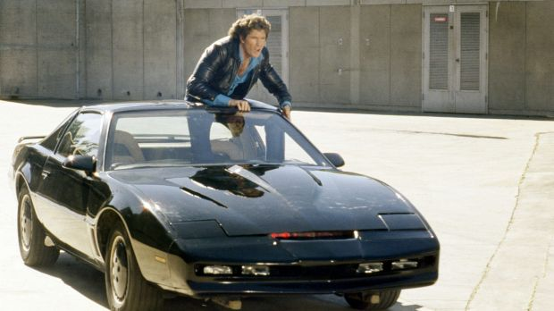 Computerised car KITT from the television series Knight Rider.