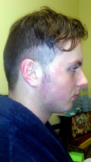 The offending haircut that cost a student on his chemistry exam.