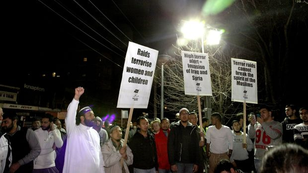 The crowd at Lakemba in Sydney on Thursday night.