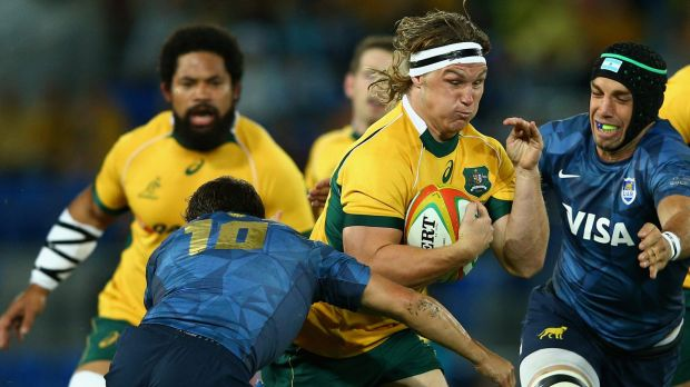 Wary: Wallaby Michael Hooper was not happy with the incident which led to him being cited.