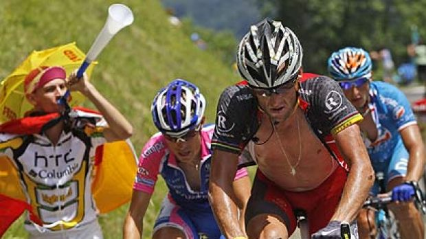 Lance Armstrong ... beaten before he got to the line.
