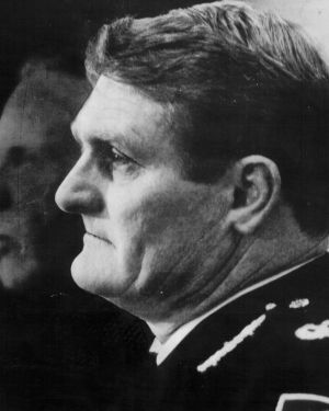 Shot dead: Assistant Federal Police Commissioner Colin Winchester, was murdered as he got out of his car in 1989.