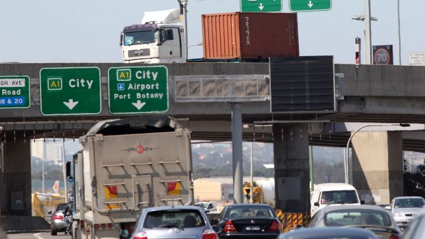Congested: As the volume of goods and traffic flowing through Port Botany expands, roads are becoming increasingly crowded.