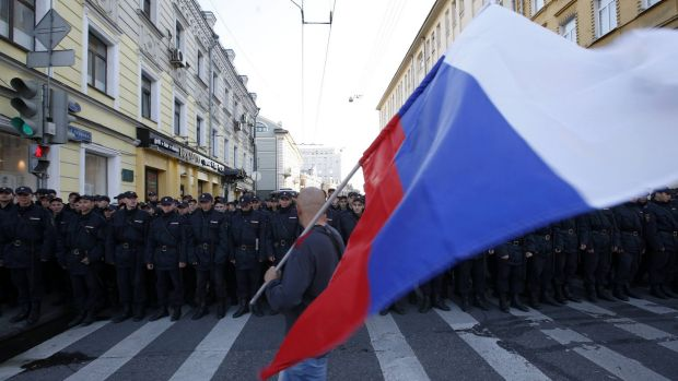 Sonar, a Russian volunteer organisation that monitors public demonstrations, counted 26,100 marchers.
