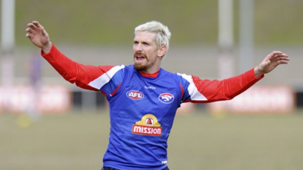 End of an era .... Jason Akermanis has played his final match for the Bulldogs.