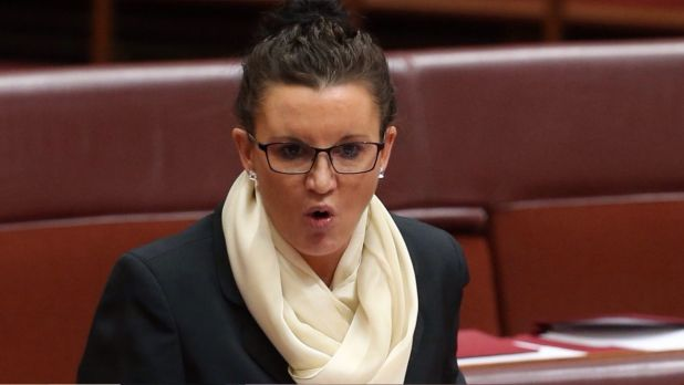"""Senator Jacqui Lambie's bill, which is being formally drafted, says """"a person must not, without reasonable excuse, wear ..."""