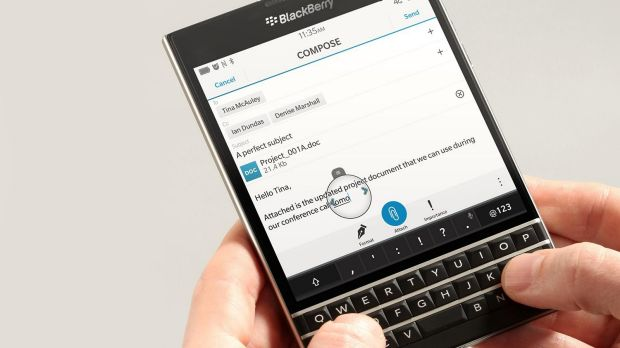 """Bizarre"": Blackberry's new square-shaped Passport smartphone."