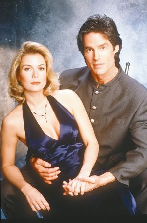 Katherine Kelly Lang as Brooke Logan Forrester, and Ronn Moss as Ridge Forrester in soap-opera, The Bold and the ...