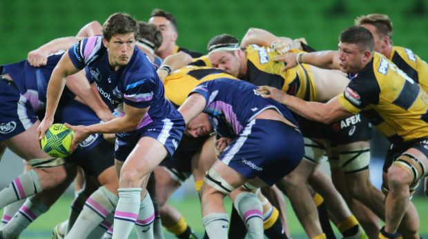 Luke Burgess in action for Melbourne Rising.