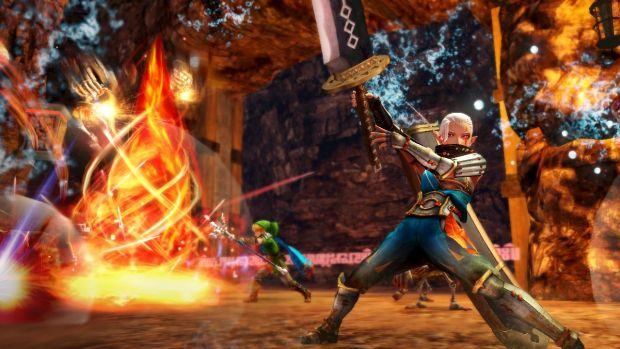 Impa finally gets her time to shine, as Link goes to town with the fire-spewing Magic Rod.