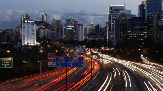 Sydney's middle-ring suburbs are the most affected by peak-hour traffic congestion.