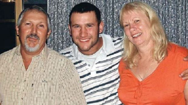 Workplace death: The Catanzariti family. Barney, Ben and Kay. Ben died in a construction accident in Kingston in 2012.