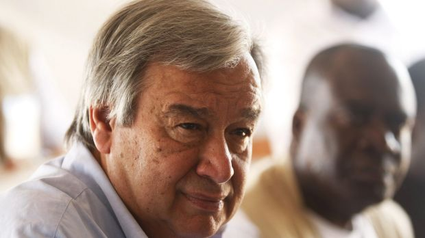 Former UN high commissioner for refugees Antonio Guterres is in the lead.