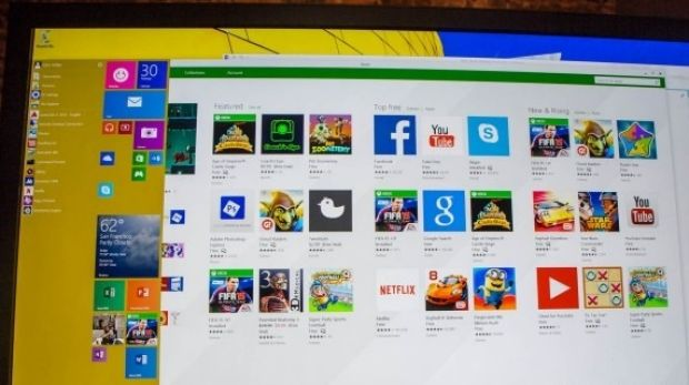 Windows Store apps no longer only run in full screen, the windows can now be resized and minimised.