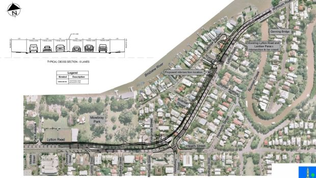 The proposed Lytton Road upgrade will require resumption of houses at East Brisbane.