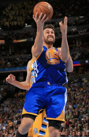 New role: The Warriors are keen to get more points from Andrew Bogut this season.