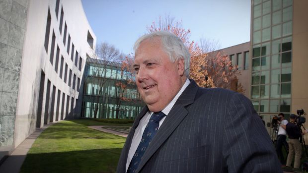 Clive Palmer at Parliament House, Canbera this week.