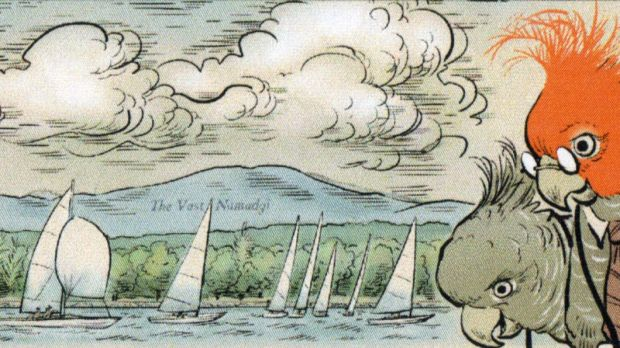 Part of Canberra Times cartoonist David Pope's special illustration of Lake Burley Griffin to celebrate its coming 50th ...