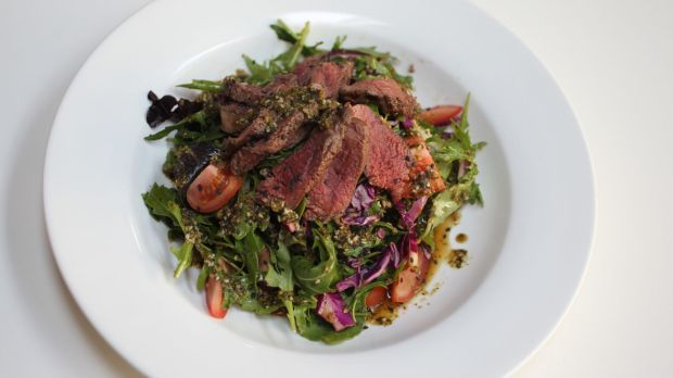 'Kangaroo Fillet Salad' at the Paleo Cafe in Bondi Junction.
