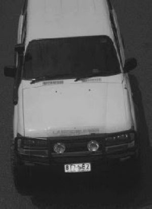 Vehicle of interest in the alleged murder of Shaun Barker.