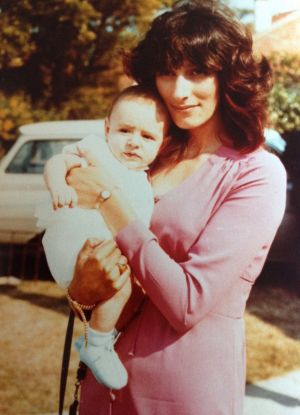 A lifelong wait: Jason Scoufis with his mother Christine in 1971.