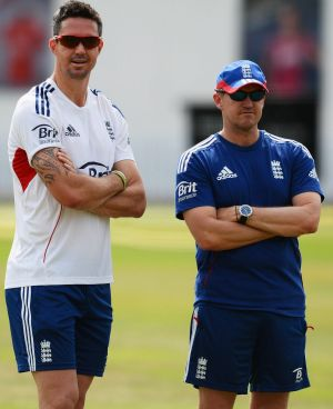 Personal clashes: England's Kevin Pietersen and Andy Flower.