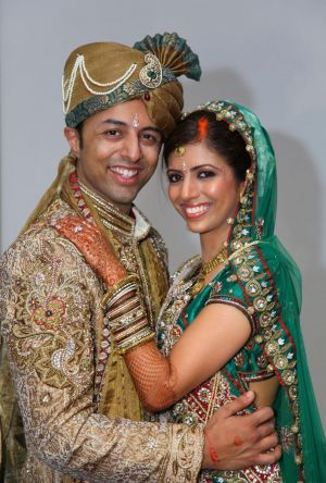 Happier days: Shrien Dewani and Anni Dewani.