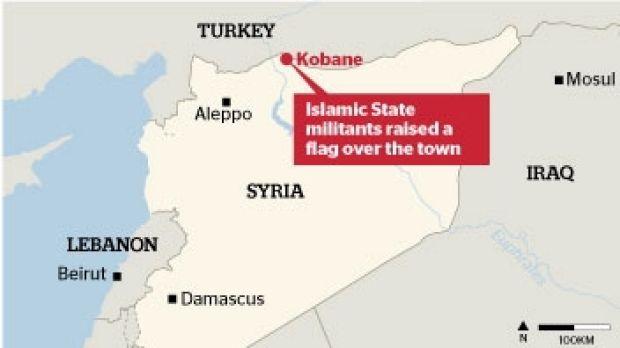 Fighting has intensified in Kobane.