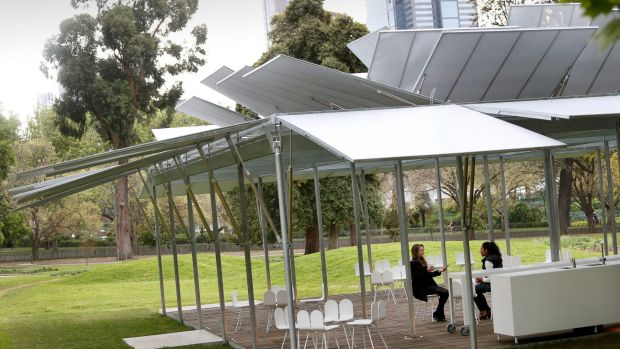 The first MPavlion in Queen Victoria Gardens in 2014.