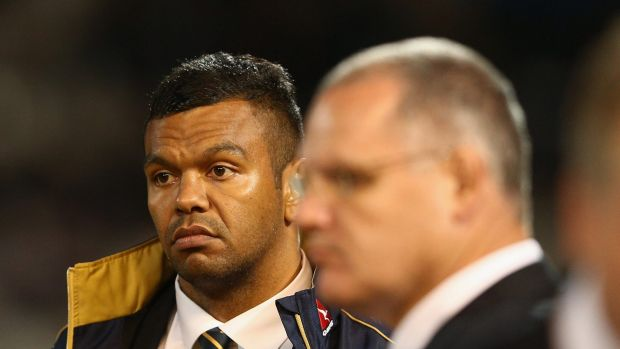Stood down: Kurtley Beale faces an independent ARU inquiry into messages he sent about Di Patston in June.