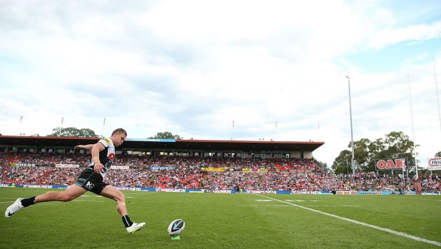 Sportingbet Stadium is more accustomed to seeing the NRL's Penrith Panthers.