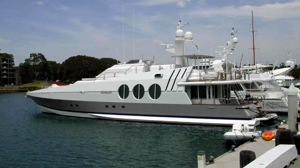 Kerry Stokes' Antipodean yacht, which was robbed in Papua New Guinea.