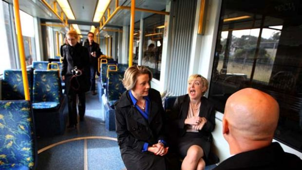 Uneasy travelling companions ... Kristina Keneally has criticised Verity Firth for announcing a replacement of unflued ...