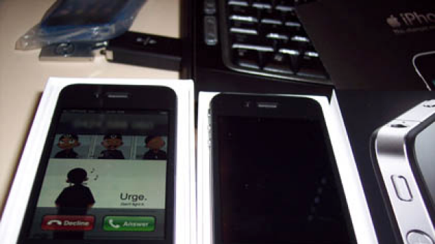 The iPhone 4 receiving a call.