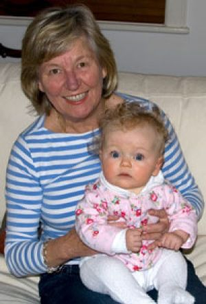 Family ... Pixie Rourke with her granddaughter, Elsie, last year.